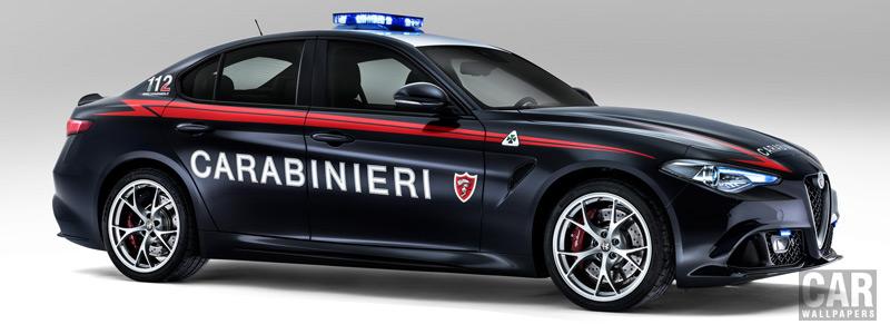 Обои автомобили Alfa Romeo Giulia Quadrifoglio Carabinieri - 2016 - Car wallpapers