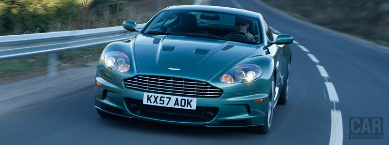 Обои автомобили Aston Martin DBS Racing Green - 2008 - Car wallpapers