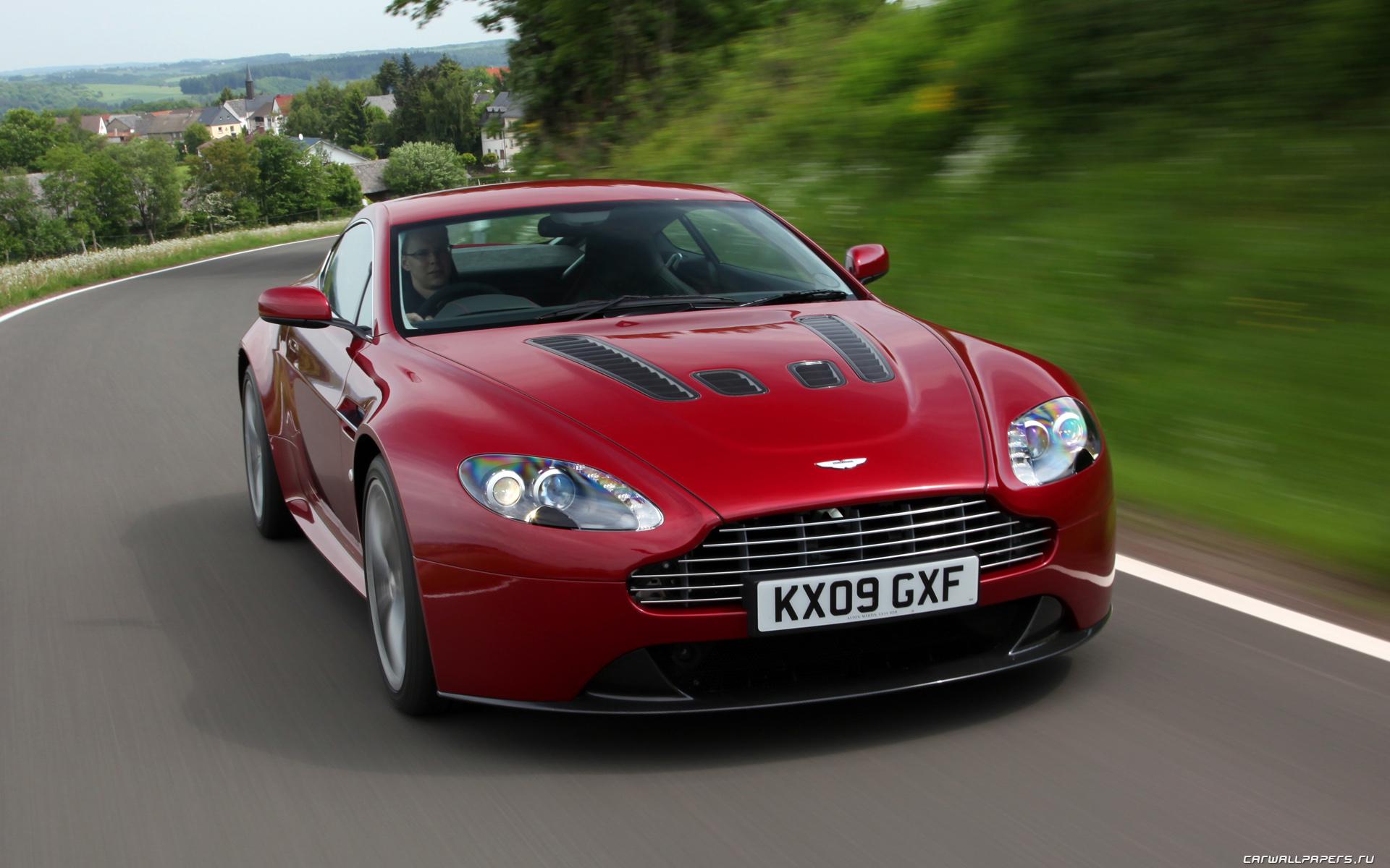 Cars Desktop Wallpapers Aston Martin V12 Vantage Magma Red 2009