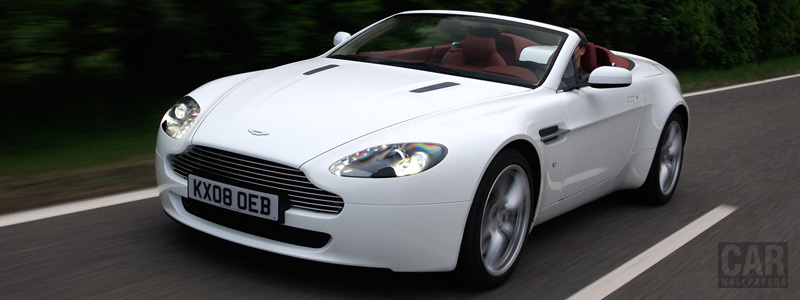 Обои автомобили Aston Martin V8 Vantage Roadster Stratus White - 2008 - Car wallpapers