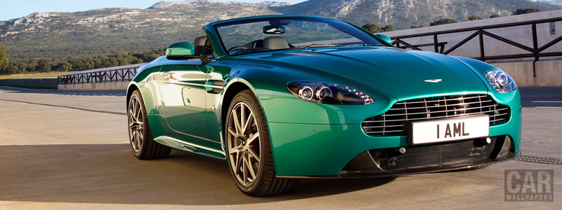 Cars wallpapers Aston Martin V8 Vantage S Roadster Viridian Green - 2011 - Car wallpapers
