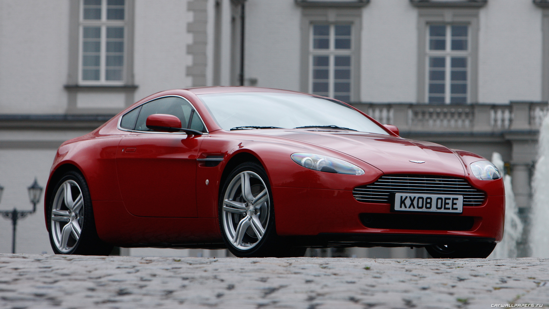 Cars Desktop Wallpapers Aston Martin V8 Vantage Fire Red 2008