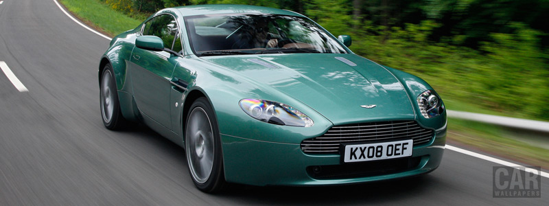 Обои автомобили Aston Martin V8 Vantage Racing Green - 2008 - Car wallpapers