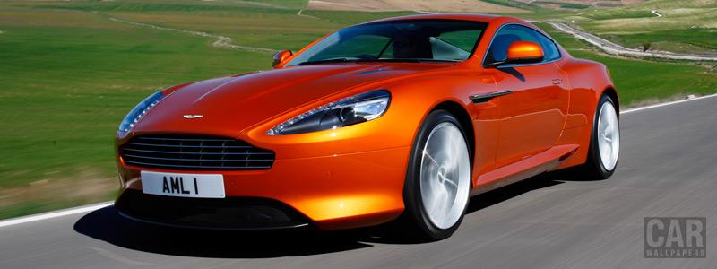 Обои автомобили Aston Martin Virage Madagascar Orange - 2011 - Car wallpapers