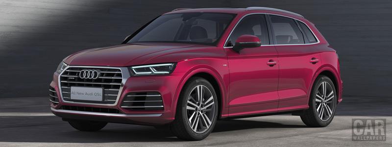 Обои автомобили Audi Q5L 45 TFSI quattro S line China-spec - 2018 - Car wallpapers
