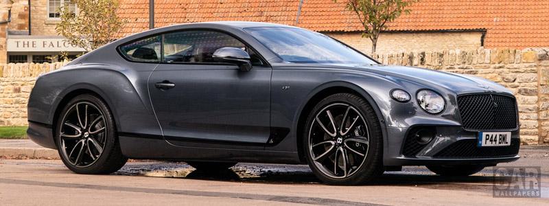 Обои автомобили Bentley Continental GT V8 (Storm Grey) UK-spec - 2020 - Car wallpapers