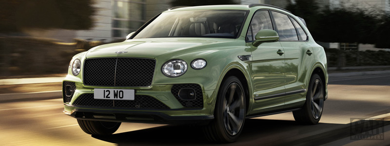 Обои автомобили Bentley Bentayga V8 (Alpine Green) - 2020 - Car wallpapers