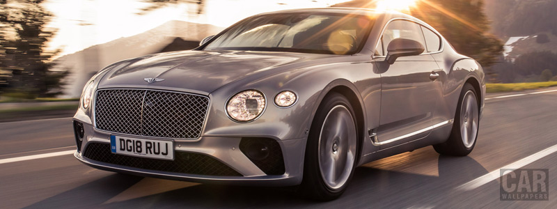 Обои автомобили Bentley Continental GT (Extreme Silver) - 2018 - Car wallpapers