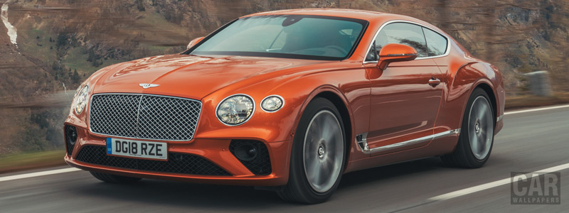 Обои автомобили Bentley Continental GT (Orange Flame) - 2018 - Car wallpapers