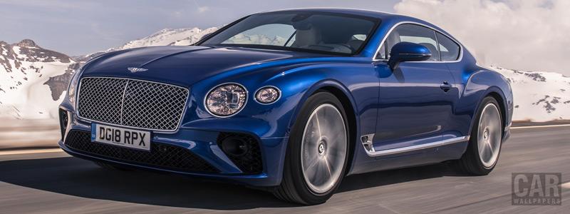 Обои автомобили Bentley Continental GT (Sequin Blue) - 2018 - Car wallpapers