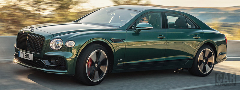 Обои автомобили Bentley Flying Spur Blackline (Verdant) - 2019 - Car wallpapers