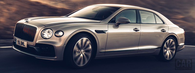Обои автомобили Bentley Flying Spur Blackline (White Sand) - 2019 - Car wallpapers