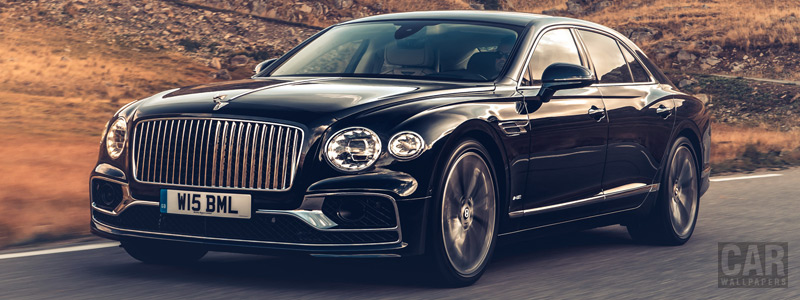 Обои автомобили Bentley Flying Spur (Dark Sapphire) - 2019 - Car wallpapers