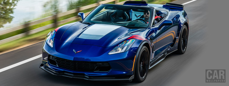 Обои автомобили Chevrolet Corvette Grand Sport Convertible - 2016 - Car wallpapers