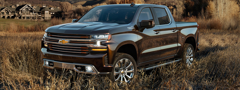 Обои автомобили Chevrolet Silverado High Country Crew Cab - 2018 - Car wallpapers