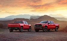 Обои автомобили Chevrolet Silverado LT Z71 Trailboss Crew Cab - 2018