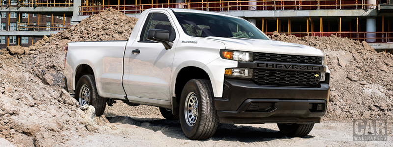 Обои автомобили Chevrolet Silverado Work Truck Regular Cab - 2018 - Car wallpapers