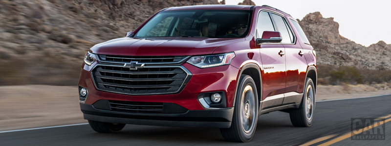 Обои автомобили Chevrolet Traverse RS - 2018 - Car wallpapers