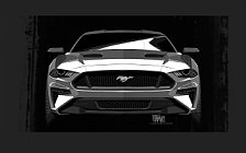 Обои автомобили Ford Mustang GT Performance Package - 2017