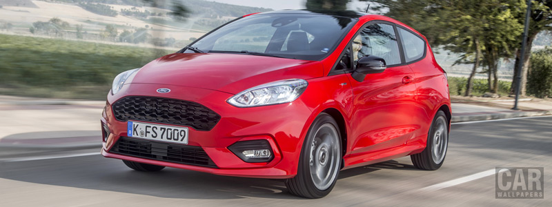 Обои автомобили Ford Fiesta ST-Line 3door - 2017 - Car wallpapers