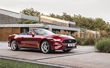 Обои автомобили Ford Mustang EcoBoost Convertible EU-spec - 2017